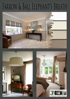 Modern Country Style: Colour Study: Farrow and Ball Elephant's Breath ball eleph, farrow and ball all white, paint