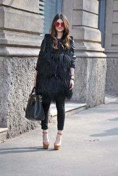 #Milan Fashion Week Fall 2013 #Street Style