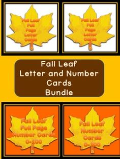 Here is the fall leaf letter and number cards in a bundle. The Bundle includes the Fall Leaf Full Page Alphabet Letter Cards Uppercase and Lowercase and the Fall Leaf Alphabet Letter Cards Uppercase and Lowercase as well as the Fall Leaf Full Page Number Cards 0-100 and Fall Yellow Leaf Number Cards 0-100 (small cards).