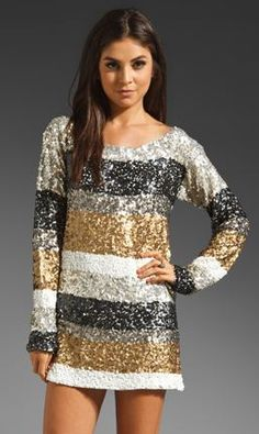 Sparkly shirt dress