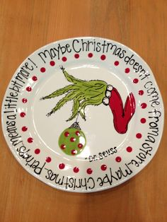 The Grinch:  MY FAVORITE CHRISTMAS STORY EVER :) @Stephanie Close Close Gornall  this looks like something you would make!!