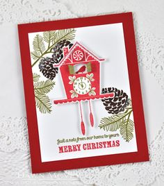 Christmas Clock Card by Dawn McVey for Papertrey Ink (August 2014)