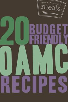 20 Budget Friendly OAMC Recipes | Freezer Cooking | Freezer Meals | Once A Month Meals