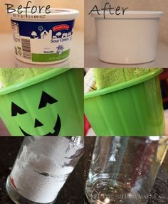 Prepare your glass jars and plastic containers for reuse with these methods for removing labels, glue, and printing.  #t2hmkr #upcycle