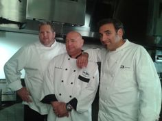 Chef Jim with his other Chef buddies Dante and Brandt on the set of a Mr. Hero TV commercial shoot in 2013. hero tv