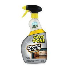 The Goo Gone® Oven & Grill Cleaner features a non-toxic, fume free and stay-in-place foam formula that penetrates and breaks down tough burnt-on carbon deposits without harming the surface of your oven.