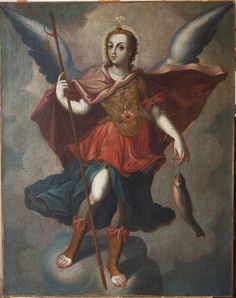 The Archangel Raphael -- Colonial Mexico, Spanish Colonial archangel raphael, art
