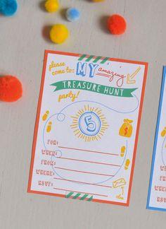 {free printable} treasure hunt party invitation @artbarblog