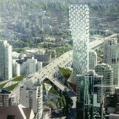 150 metre high skyscraper in downtown vancouver touches on all levels of design