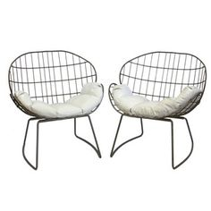 Wire chairs,