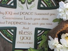 #Irish Blessings on this #burlap #wreath  www.facebook.com/wreathswithareason