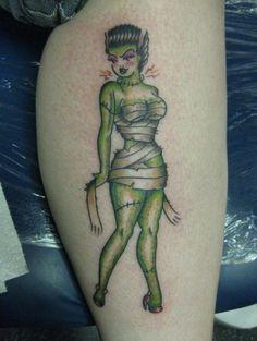 Bride of Frankenstein Pin-Up