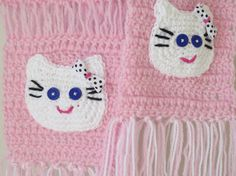 KITTY CAT  SCARF. Soft and Beautiful light pink by Bluetulipgifts, $21.99