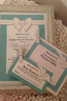 Breakfast at Tiffany's Baby Shower Party invitations!  See more party planning ideas at CatchMyParty.com!