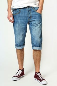 DO NOT GO TO A FESTIVAL... unless you have your denim shorts ready!  www.boohoo.com #menswear #fashion #shorts #festival
