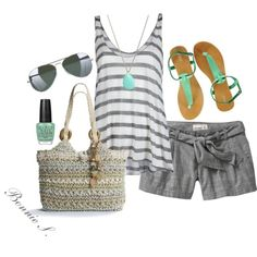 summer casual, day outfits, cloth, style, summer outfits, polyvore outfits, beach, summer fun, summer days