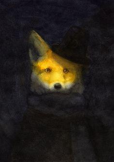 Animal portrait: Illustration by Akitaka Ito #illustration #fox #akitaka_ito