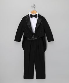 Look at this Black Five-Piece Tailcoat Tuxedo Set - Infant, Toddler