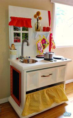So many cute play kitchen ideas!!!
