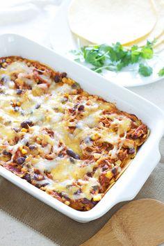 BBQ Chicken Enchilada Casserole   Recipe Runner