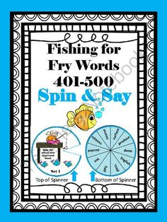 Fishing for Fry Words 401-500 from Andrea'sArtifacts on TeachersNotebook.com -  (38 pages)  - Fish for 401-500 Fry words with these fun, spin and say spinners!