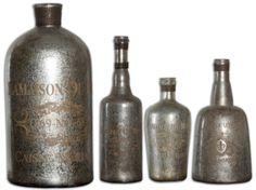 Lamaison Mercury Glass Bottles by Uttermost 19752