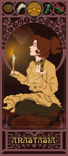 ART NOUVEAU PRINTS FOR ALL THE NON-DISNEY PRINCESSES: Anastasia