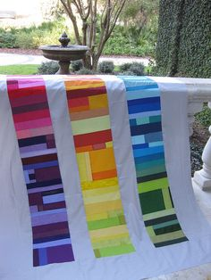 Really modern and fab: Rene's Liberated Coin Quilt