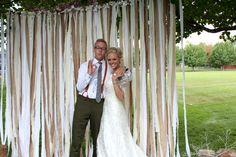 Al Fox Wedding, cloth streamers