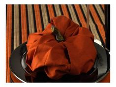 Video: Fold a Pumpkin Napkin pumpkin napkin, napkins folding ideas, napkin folding, fall pumpkins