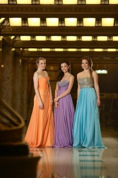 Prom fashions at the Peabody Opera House
