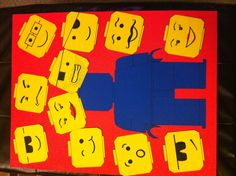 Lego Party Game - Pin the head on the LEGO man!!! I made this one :)