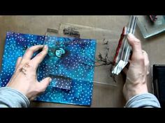 ▶ Mixed Media Art Card - Home Is Where The Heart Is - YouTube