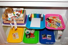 tot trays, classroom, tot school, preschool eric, bears, homeschool, educ, brown bear, teach idea