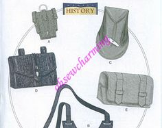 Renaissance Costume Accessories Patterns Butterick 5936 All Sizes Gauntlet Water Bottle holder carrier and pouches