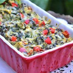 Holiday Hot Spinach Dip Allrecipes.com
