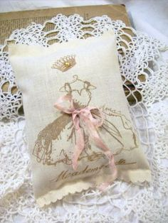 Little French Princess Dress Lavender Sachet Shower Party Favors