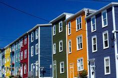 Jellybean Row - St. John's, Newfoundland