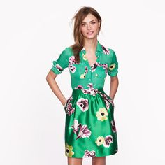 Collection silk punk floral blouse