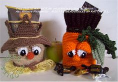 Free Crochet Harvest Goodies Bags Pattern.