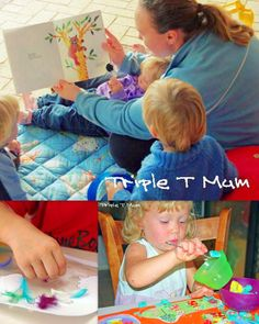 How to do activities with toddlers in the mix -Advice from a mom of a twin 2 year olds and a 3 year old, on how to do activities with a young group.