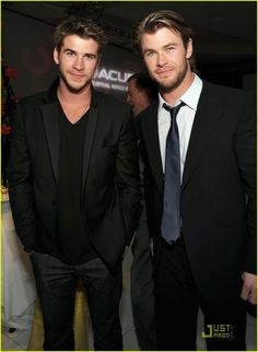 chris and liam hemsworth, i want you both.