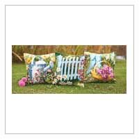 summer garden, garden pillow