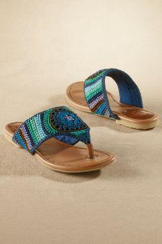 Shannon Sandal - Crochet Sandal, Woven Thong Sandal, Stylish Beach Sandal