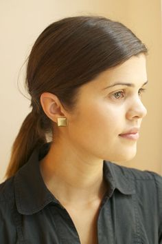 DIY button earrings