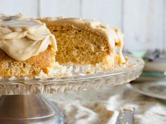 A recipe for Cider Cake with Caramel Frosting on The History Kitchen