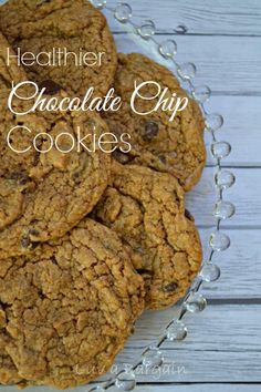 Healthier Chocolate Chip Cookies Clean Eating recipe. They are amazing!   LuvaBargain.com