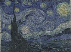 Starry night in words.