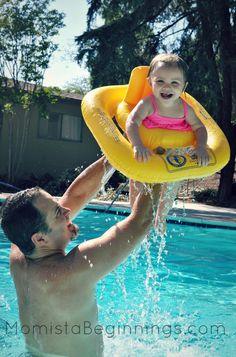daddy daughter swimming pool fun shots