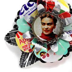 New Frida Brooch from upcycled aluminum.